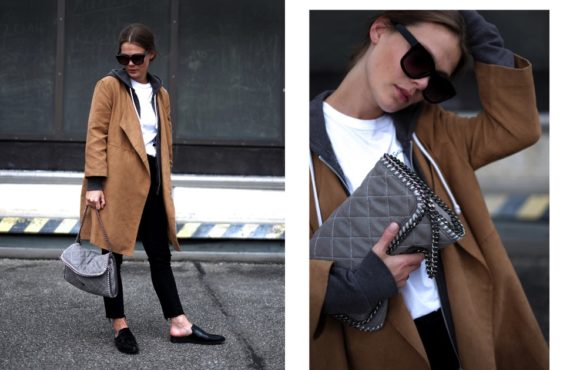 OUTFIT // THE FAKE SUEDE COAT
